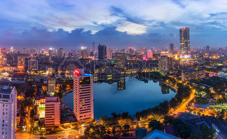 71574898-hanoi-city-by-twilight-period-with-giang-vo-lake-ba-dinh-district-aerial-skyline-view