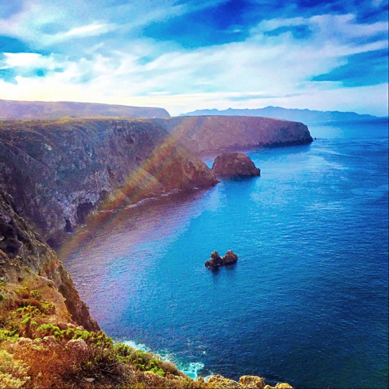 """Over the Rainbow"" (Santa Cruz Island, CA)"