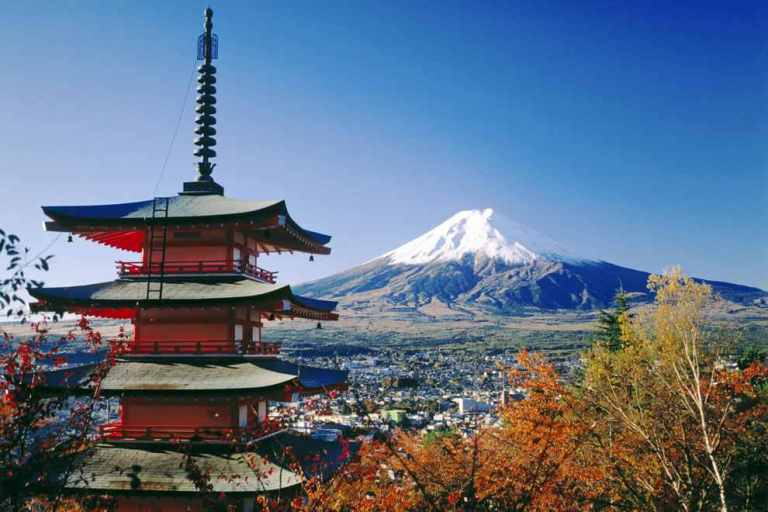 Japan-Fujiyoshida-and-Mount-Fuji